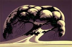 Snow Tree by Eyvind Earle