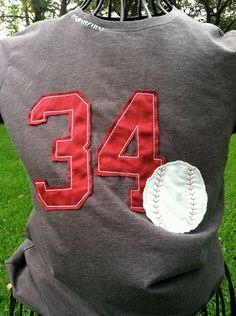 Vintage Look Baseball T Shirt by ModernMonograms on Etsy