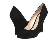 fashion, black sued, west shoe, wedge heels, nine west