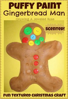 Puffy Paint Gingerbread Man