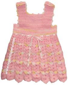 Tutorial: vestido para niñas de 0 a 3 meses tejido a crochet! este es facil siguiendo los pasos.