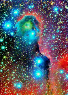 Elephant's Trunk Nebula's HARD FLORESCENT NEON COLORS   #NEBULA #GALAXY #STARS #MOON #COSMOS #cosmic #space #universe #nebula #nebulae #galaxy #galaxies #sun #moon #stars #planets #stardust #space-storms #cosmos #astrophotography #art #Hubble #colorful #sky #astronomy