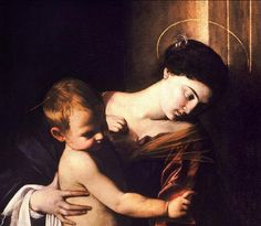 Caravaggio : Madonna pellegrini  >> Madonna of the Pilgrims