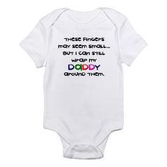 Daddy Wrapped Around Finger - Infant Bodysuit < Funny Sayings On Funny Baby Onesies < Funny Sayings On Baby Onesies < Funny Baby Onesies Bibs T-shirts Creepers Baby Shower Gifts