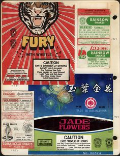 fireworks packaging, 1983