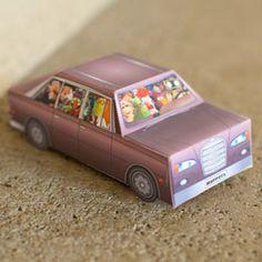 Free 3d Papercraft Muppets Movie Car printable DIY Craft Activity