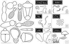insects lessons, body parts, bug science, kid printables, insects activities, spider, add bodi, roll a dice game, kid pick