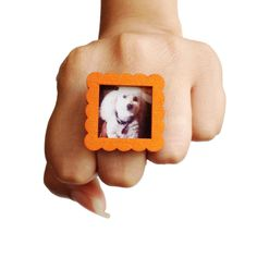 for the TALENTED INSTAGRAMMER: square photo frame ring from Antisparkle $22