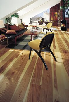 An exotic hardwood floor brings distinct character to a room.