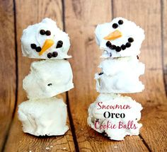 Snowmen Oreo Cookie Balls from This Mama Loves