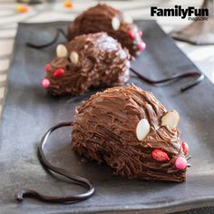 Rat Bites: These treats, cleverly constructed from halved donuts, will provoke shivers of fright and squeals of delight.