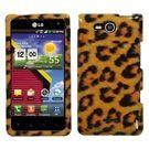 LG Lucid 4G VS840 Design Snap On Case - Leopard