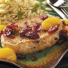 Cranberry-Orange Pork Chops Recipe
