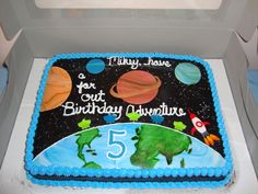 Katrell 39 s lazer tag space jam galexy party on pinterest for Outer space cake design