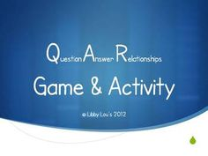 This PowerPoint lesson reviews Question Answer Relationships (QAR), and allows students to practice using QAR with well known nursery rhymes that h... base question, question answer, nurseries, qar, strategi, nursery rhymes, read, grade literaci, relationships