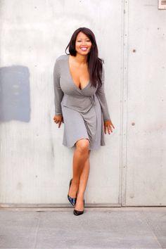 Monique Cooper grey dress