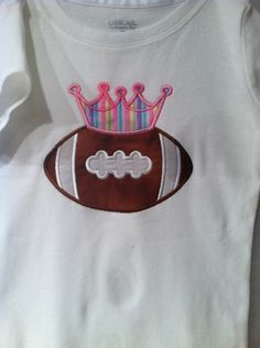 Princess football applique t shirt by debsmartin58 on Etsy