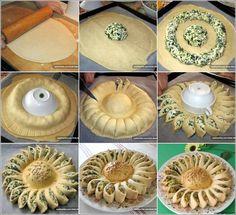 Spinach Cheese Sunflower Pie Recipe Spinach Cheese Sunflower Pie Recipe
