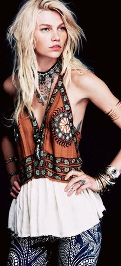 ☯☮ॐ American Hippie Bohemian Style ~ Boho Summer Tank!
