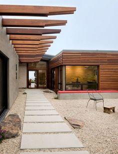 Desert courtyard. |