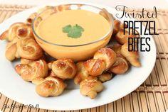 Twisted Pretzel Bites- the perfect bite-size snack or appetizer! SixSistersStuff.com #appetizer