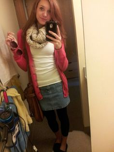 Fall time college outfit!