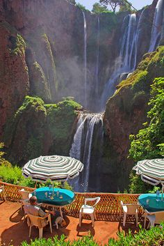 Cafe at Cascades d' Ouzoud in Tanaghmeilt, Morocco (by Neil67).