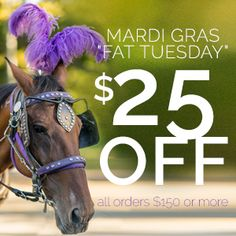 Celebrate Fat Tuesday with $25 OFF your purchase $150 and over! | tap the image