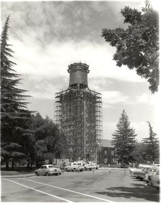 Burns Tower Construction at the University of the Pacific