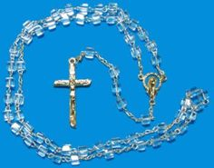 Imported Clear Glass Rosary Beads Communion Favors http://www.alittlefavor.com/products/116/ibclearrosary/imported-clear-glass-rosary-beads-communion-favors.html