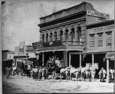 1866 shot of the Wells, Fargo & Company Express Office in Virginia City.