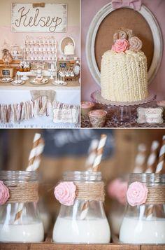 Vintage Cowgirl Birthday Party with so many GORGEOUS IDEAS! Via Kara's Party Ideas KarasPartyIdeas.com #vintage #shabby #chic #cowgirl #party #idea