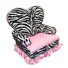 #Zebra Chair for the Birthday Girl - Newco Kids Princess Heart Chair