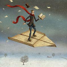 . books, book art, fli, lectura, book illustrations, adam pękalski, read, adam pekalski, libro