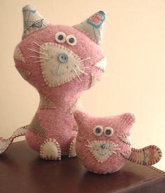 Cute Cats' kitty cats, amy adams, felt, news, puppet, pink, kittens, baby cats, crafts