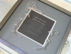 Quilled and Framed Wedding Invitation by Ann Martin via Oh So Beautiful Paper (2)
