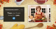 Frozen turkeys can leak, posing #dangers in the oven. Plan ahead to avoid an accident. #StaySafe #Thanksgiving #ADT #AlwaysThere