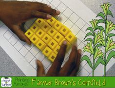 Farmer Brown's Cornfield~ a simple little lesson to help my students who struggle with the concept of arrays, rows, and columns plus a FREE printable student page.