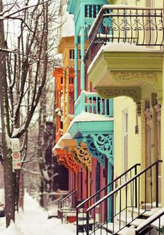 Snowy Day, Montreal, Canada