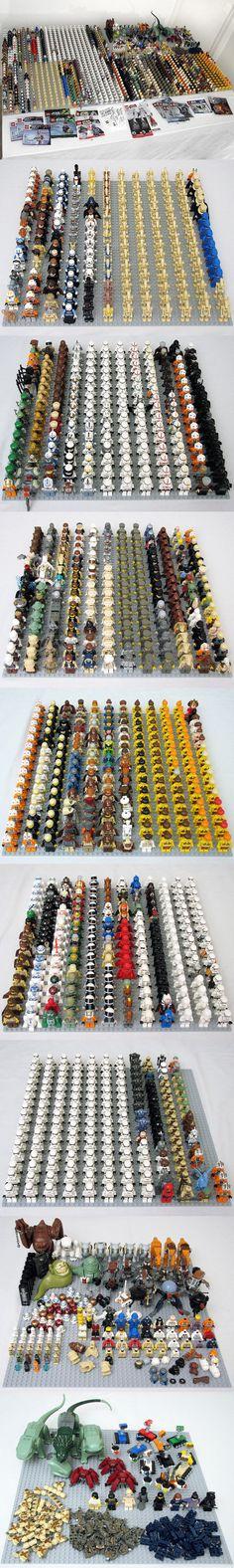 HUGE Star Wars minifigure (1220) collection! #StarWars #LEGO #minifigure