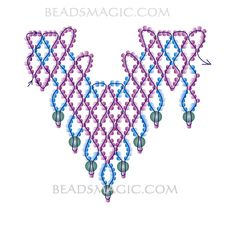 craft, beaded necklaces, free pattern, necklac sea, bead necklace patterns
