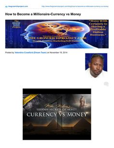 How to Become a Millionaire-Currency vs Money  If you want to know how to become a millionaire, you must know the rules of money. Most of us think we know what money is, but we truly don't. Mike Maloney is dedicated to exposing the Hidden Secrets of Money, which is why I resonate with his material so much.