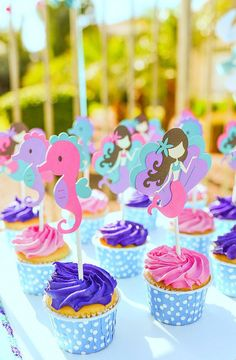 Mermaid Cupcake Topp