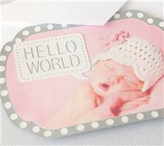 Announce your new bundle of joy to the world using Tiny Treasures!