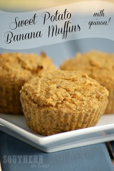Quinoa Sweet Potato Banana Muffins - Healthy, Gluten Free, Low Fat, Vegan == Southern In-Law