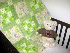 1,2,3 Green Light Go - a handmade baby quilt