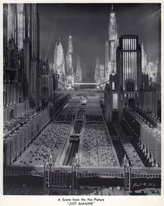 """NYC. New York City, 1980, as imagined in the 1930 film """"Just Imagine"""""""