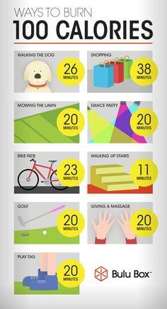 Ways to Burn 100 Calories