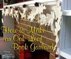 Make an Oak Leaf Book Page Garland