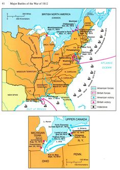 Week 8: War of 1812 Battle Map